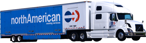 North American transfer trucks can complete your move internationally or accross Canada.